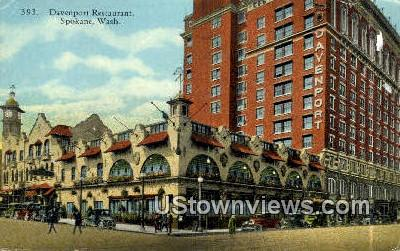 Davenport Restaurant - Spokane, Washington WA Postcard