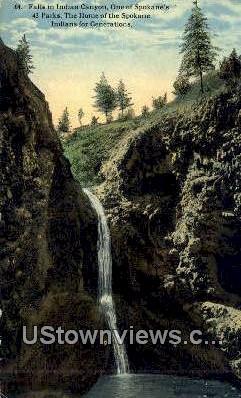 Indian Canyon - Spokane, Washington WA Postcard