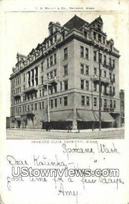 Spokane Club - Washington WA Postcard