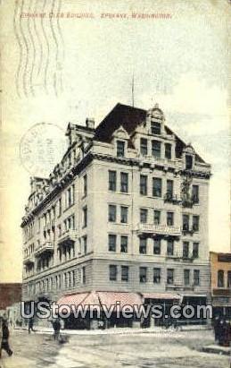 Spokane Club Bldg - Washington WA Postcard