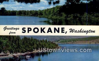 Spokane, WA,     ;     Spokane, Washington Postcard