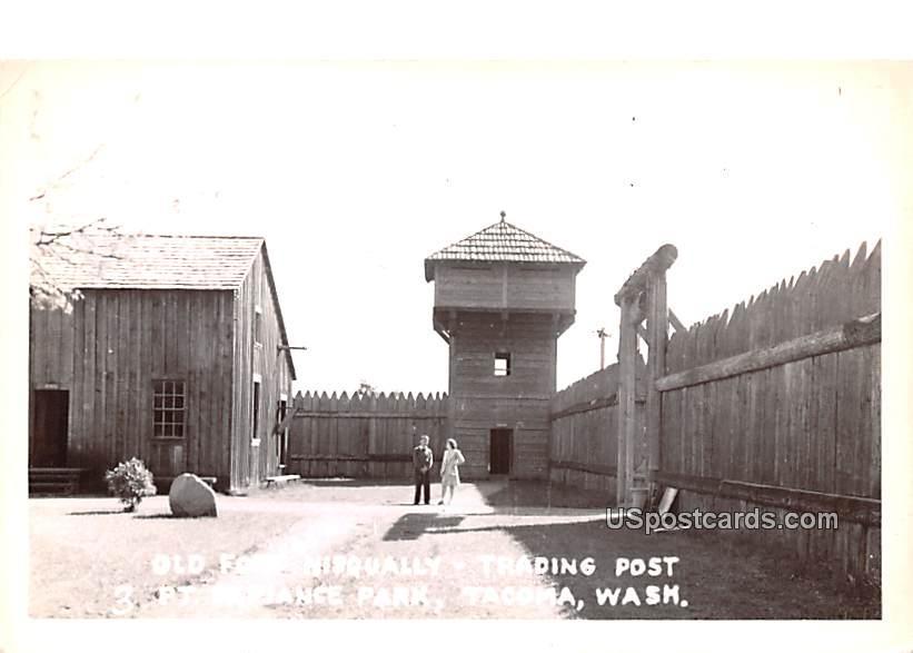 Old Fort Nisqually Trading Post - Tacoma, Washington WA Postcard