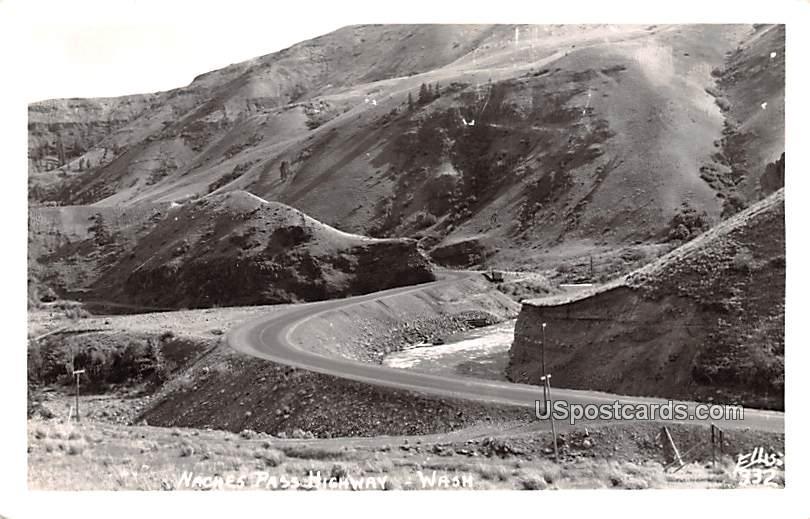 Naches Pass Highway - Tacoma, Washington WA Postcard