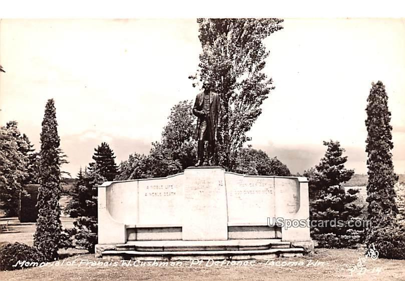Memorial of Francis W Cushman - Tacoma, Washington WA Postcard