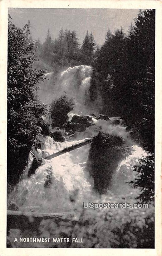 Northwest Water Fall - Tacoma, Washington WA Postcard