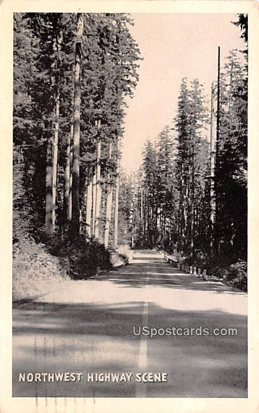 Northwest Highway Scene - Tacoma, Washington WA Postcard
