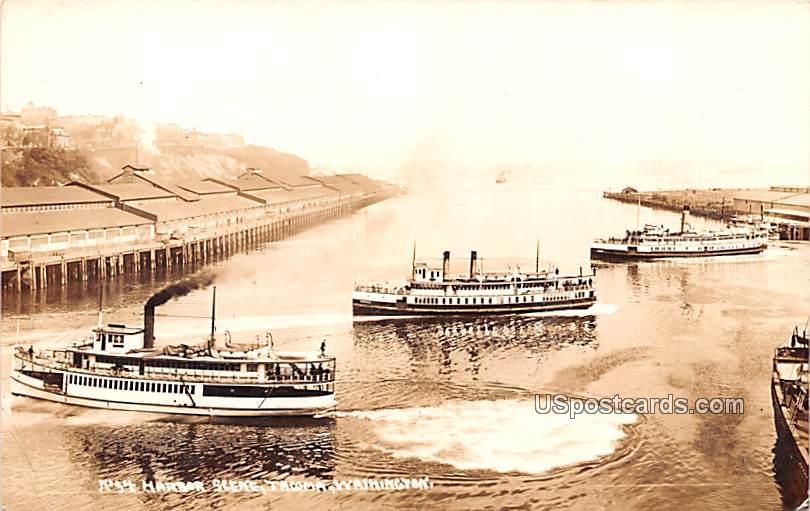 Harbor Scene - Tacoma, Washington WA Postcard