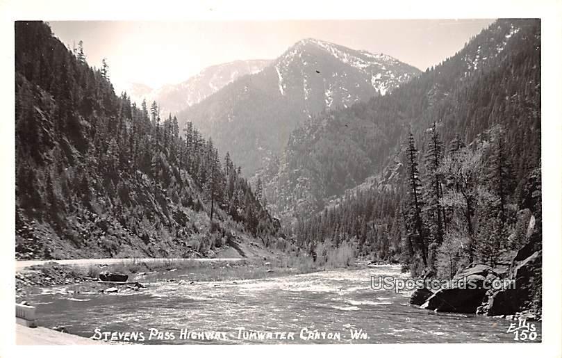 Stevens Pass Highway - Tumwater Canyon, Washington WA Postcard