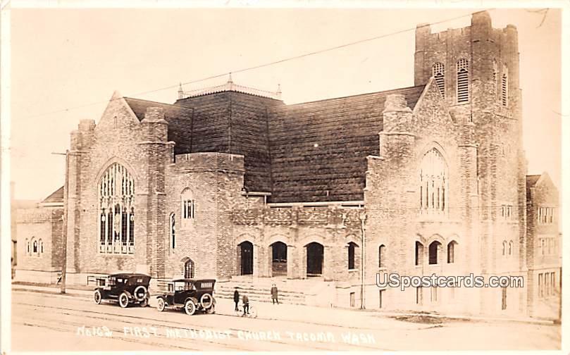 First Methodist Church - Tacoma, Washington WA Postcard