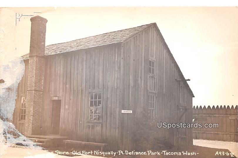 Store, Old Fort Nisqually - Tacoma, Washington WA Postcard