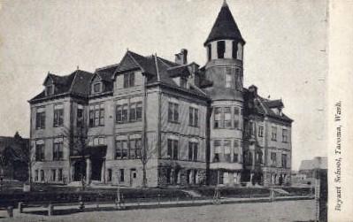 Bryant School - Tacoma, Washington WA Postcard