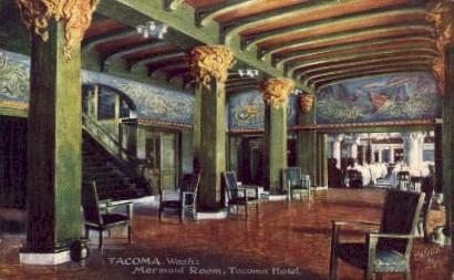 Mermaid Room, Tacoma Hotel - Washington WA Postcard