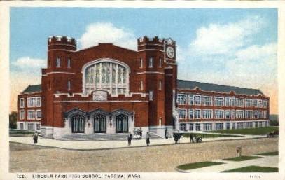 Lincoln Park High School - Tacoma, Washington WA Postcard