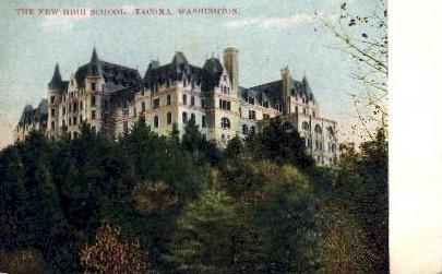 The New High School - Tacoma, Washington WA Postcard