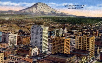 Gateway to Ranier National Park - Tacoma, Washington WA Postcard