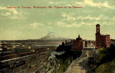 Gateway to Tacoma - Washington WA Postcard