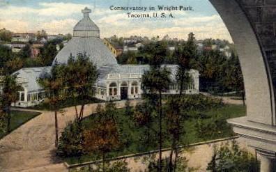 Conservatory in Wright Park - Tacoma, Washington WA Postcard
