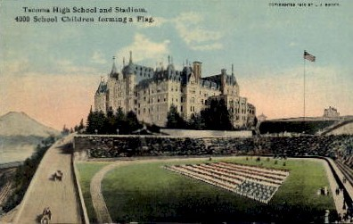 Tacoma High School & Stadium - Washington WA Postcard