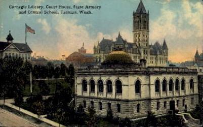 Carnegie Library - Tacoma, Washington WA Postcard