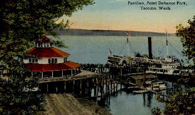 Pavilion at Point Defiance Park - Tacoma, Washington WA Postcard