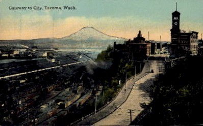 Gateway to City - Tacoma, Washington WA Postcard