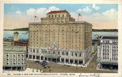 Tacoma Hotel - Washington WA Postcard