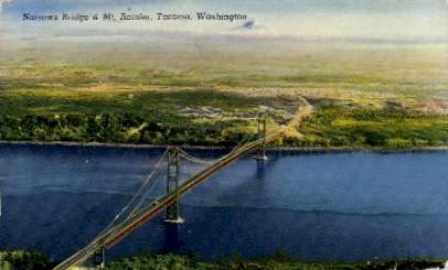 Narrows Bridge - Tacoma, Washington WA Postcard