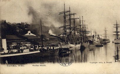 Water Front - Tacoma, Washington WA Postcard