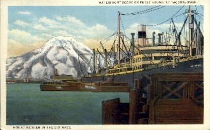 Mount Ranier - Tacoma, Washington WA Postcard