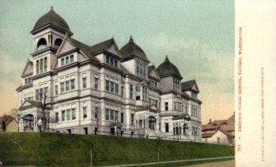Emerson Public School - Tacoma, Washington WA Postcard