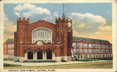 Lincoln High School - Tacoma, Washington WA Postcard