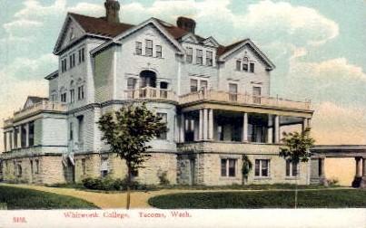 Whitworth College - Tacoma, Washington WA Postcard
