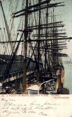 Ship - Tacoma, Washington WA Postcard