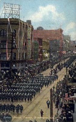 Sailors' Parade - Tacoma, Washington WA Postcard