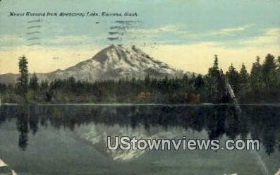 Mt Tacoma, Spanaway Lake - Washington WA Postcard