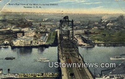Manufacturing District - Tacoma, Washington WA Postcard