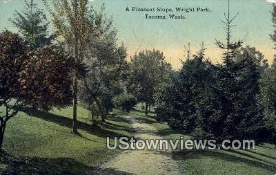 Pleasant Slope, Wright Park - Tacoma, Washington WA Postcard