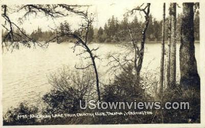 Real Photo - American Lake, Country Club - Tacoma, Washington WA Postcard