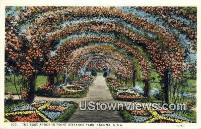 Rose Arbor, Point Defiance Park - Tacoma, Washington WA Postcard