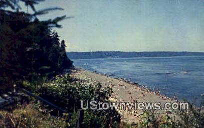 Point Defiance Beach & Park - Tacoma, Washington WA Postcard