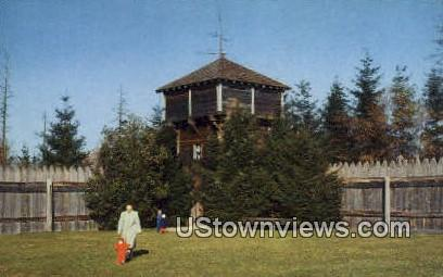 Bastion Block House, Point Defiance Park - Tacoma, Washington WA Postcard