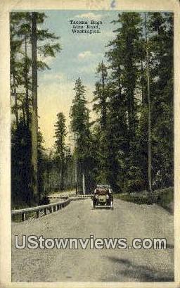 Tacoma High Line Road - Washington WA Postcard