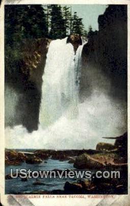 Snoqualmie Falls - Tacoma, Washington WA Postcard