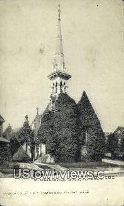 St Luke's Church - Tacoma, Washington WA Postcard