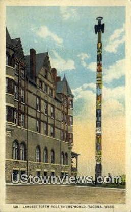 Totem Pole - Tacoma, Washington WA Postcard