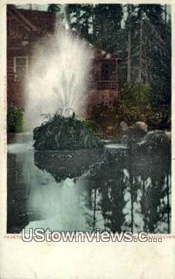 Fountain, Point Defiance Park - Tacoma, Washington WA Postcard