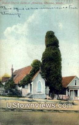 Oldest Church Spire - Tacoma, Washington WA Postcard