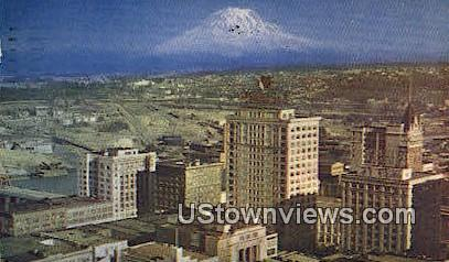 Mt Rainier - Tacoma, Washington WA Postcard