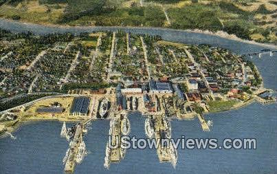 Bremerton Navy Yard - Tacoma, Washington WA Postcard