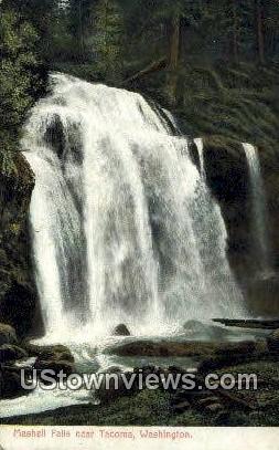 Mashell Falls - Tacoma, Washington WA Postcard